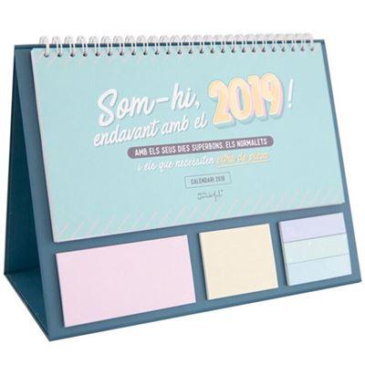 mr. wonderful calendari de taula línia clàssica - som-hi, endavant amb el 2019! amb els seus dies superbons, els normalets i els que necessiten extra de pizza-8435460736626