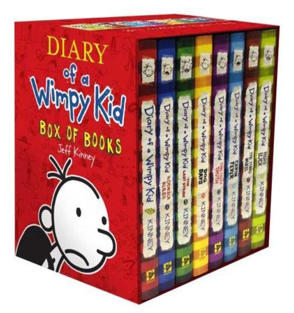 The diary of a wimpy box of books 1 9 jeff kinney comprar the diary of a wimpy box of books 1 9 jeff kinney solutioingenieria Image collections