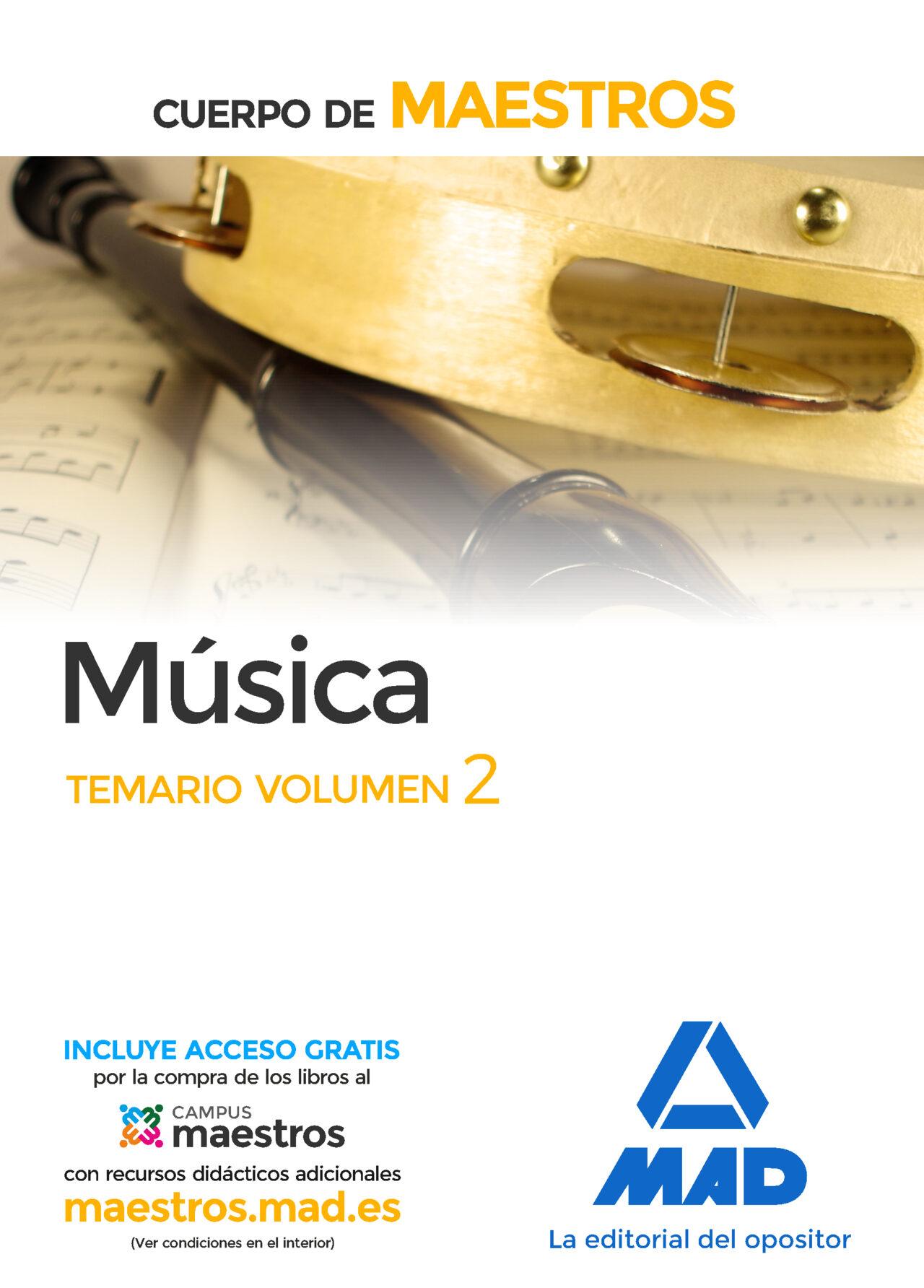 maestros musica volumen 2 temario-9788414203514