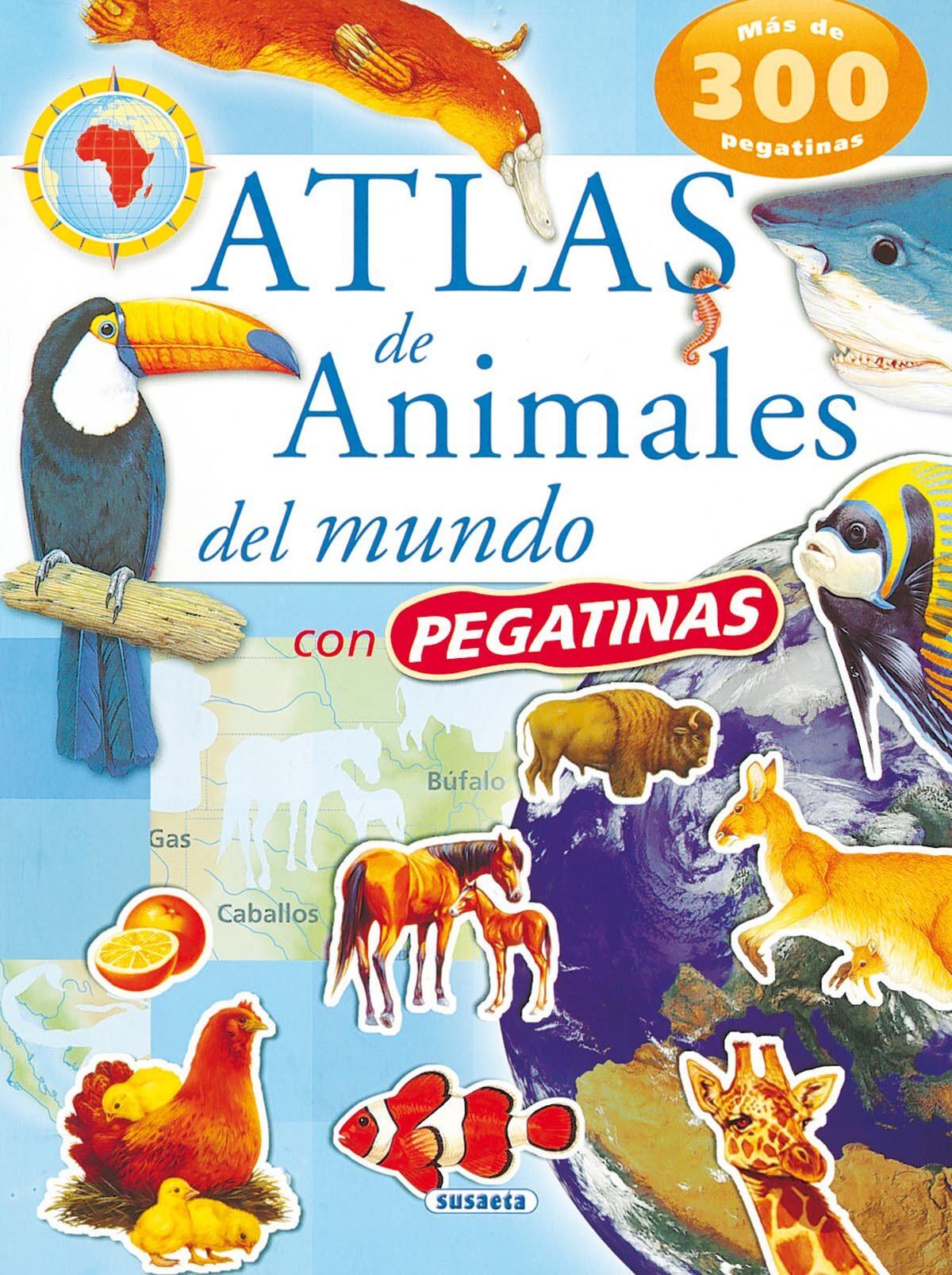 Atlas De Animales Del Mundo Con Pegatinas por Vv.aa. Gratis
