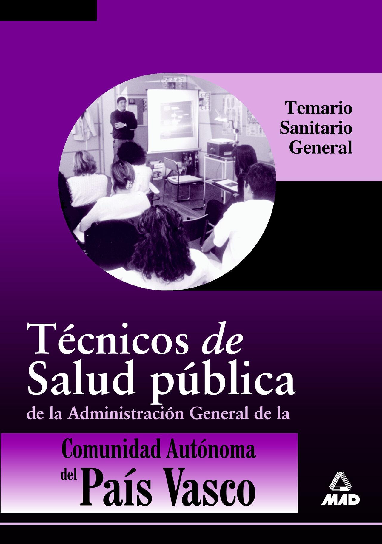 tecnico de salud publica de la administracion general de la comun idad autonoma del pais vasco-9788483119914