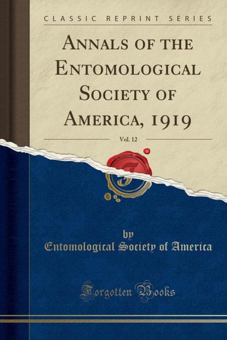 Descargar el libro de Android Annals Of The Entomological Society Of America, 1919, Vol. 12 (classic Reprint)