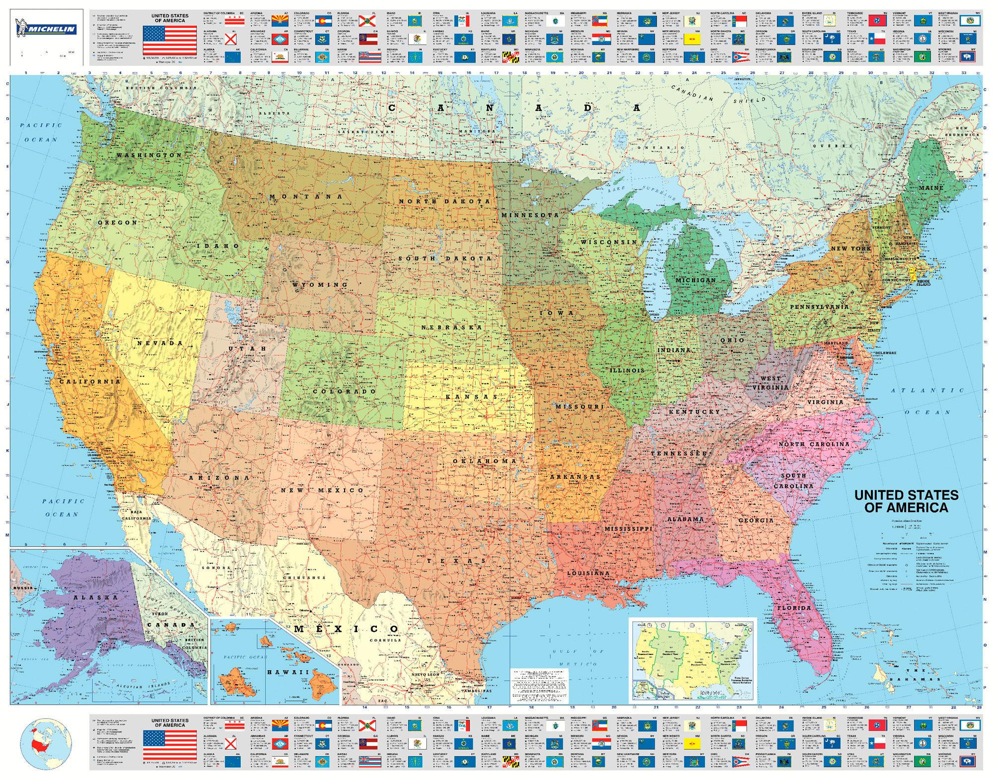 USA MAPA POLITICO MICHELIN VVAA Comprar Libro - Usa mapa