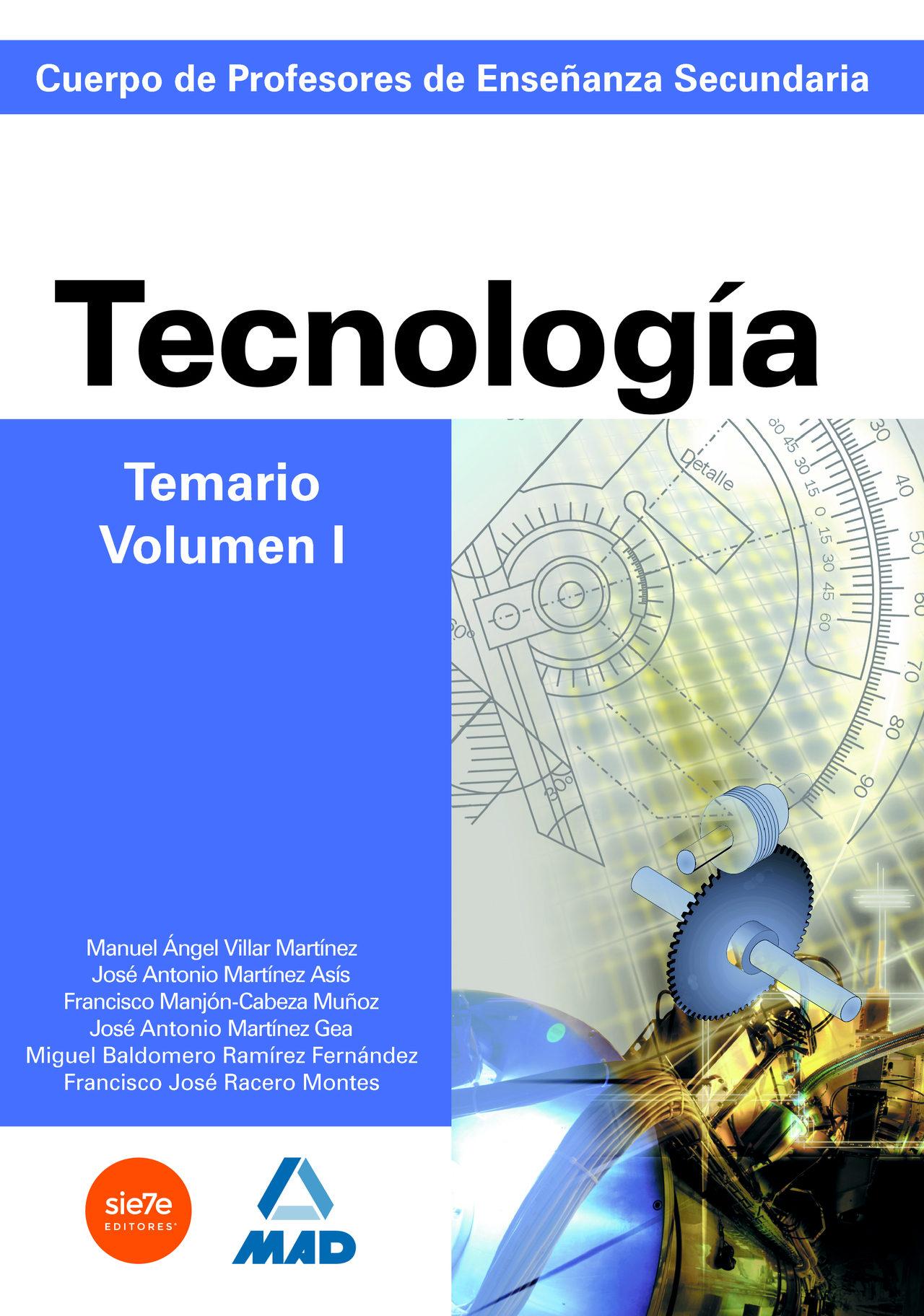 Cuerpo De Profesores De Enseñanza Secundaria. Tecnologia. Temario (vol. I) por Vv.aa. epub