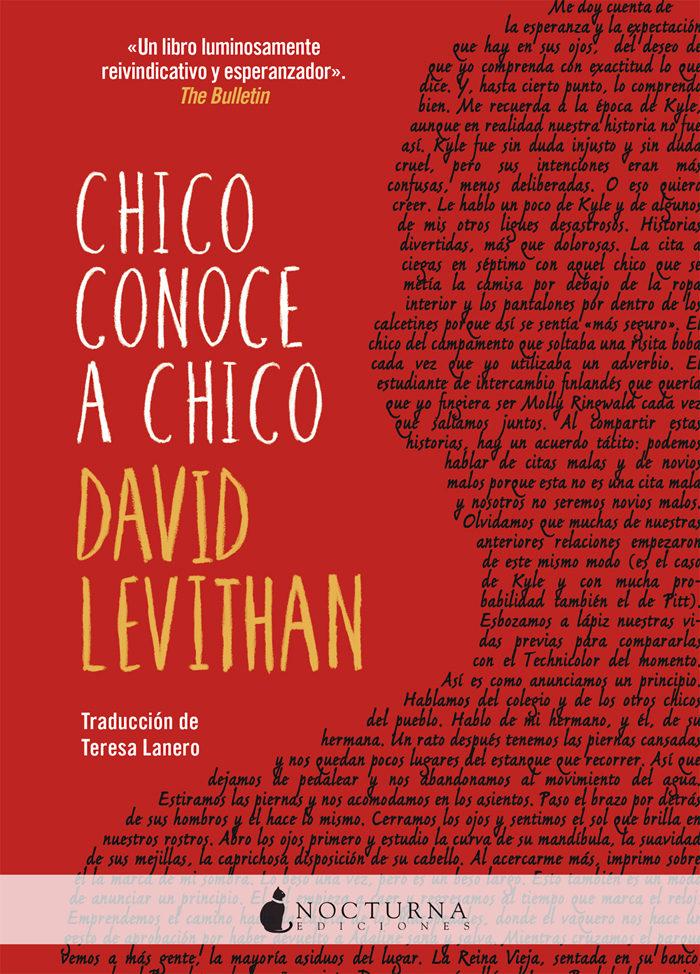 chico conoce a chico-david levithan-9788416858354