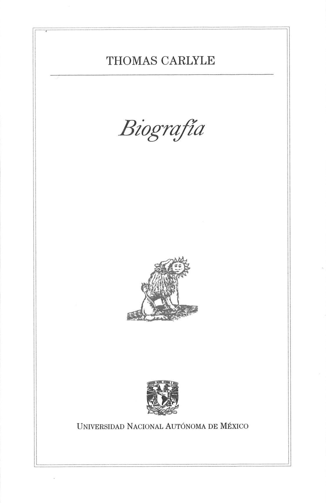Biografia por Tomas Carlyle