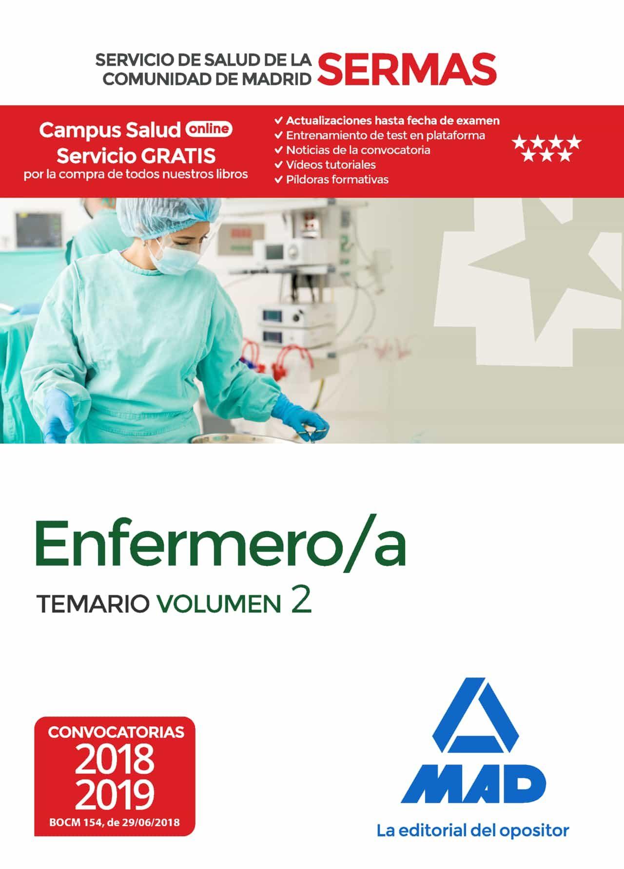 Enfermero/a Del Servicio De Salud De La Comunidad De Madrid. Tema Rio Volumen 2 (sermas) por Vv.aa.