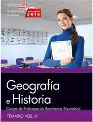 cuerpo de profesores de enseñanza secundaria. geografía e historia. temario vol. iii.-9788468168494