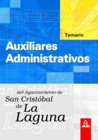 AUXILIARES ADMINISTRATIVOS DEL AYUNTAMIENTO DE SAN CRISTOBAL DE L A LAGUNA: TEMARIO