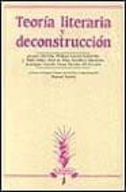 teoria literaria y deconstruccion-jacques derrida-9788476350904
