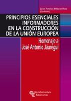 principios esenciales informadores en la construcción de la unión europea carlos francisco molina del pozo 9788480048804