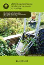 (i.b.d.) mantenimiento y mejora de elementos no vegetales. agao0208 instalacion y mantenimiento de jardines y zonas verdes-9788483645604