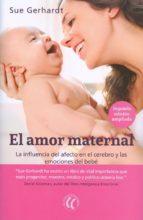 el amor maternal: la influencia del afecto en el cerebro y las emociones del bebe sue gerhardt 9788494608704