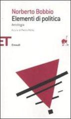 elementi di politica: un antologia-norberto bobbio-9788806202804