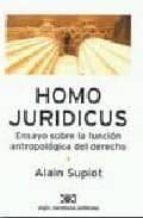 homo juridicus: ensayo sobre la funcion antropologica del derecho-alain supiot-9789876290104