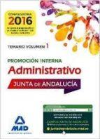 administrativos de la junta de andalucia promocion interna. temario volumen 1 (3ª ed.)-fernando martos navarro-9788414200414