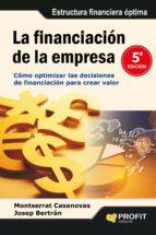 la financiacion de la empresa-montserrat casanovas-josep bertran-9788415735014
