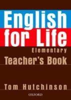 english for life workbook (beginner) (curso para adultos nivel elemental pack para el profesor) 9780194306324