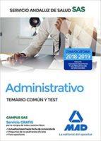 administrativo del servicio andaluz de salud. temario común y test 9788414210024