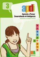 apdi 3: aprendo a pensar desarrollando mi inteligencia (3º educac ion primaria)-9788472781924