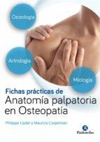 fichas prácticas de anatomía palpatoria en osteopatía-philippe gadet-9788499106724