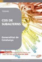 COS SUBALTERNS DE LA GENERALITAT DE CATALUNYA. TEMARI