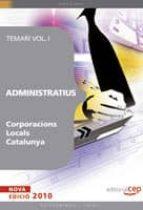 administratiu corporacions locals catalunya. temari i 9788499372624
