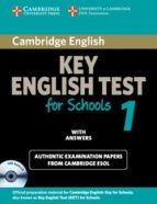 cambridge ket for schools 1: self-study pack (student s book/ ans wers / audio cd)-9780521178334