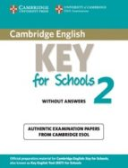 cambridge key english test for schools 2 elementary. student's bo ok without answers-9781107603134