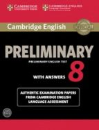 cambridge english preliminary 8 student s book pack (student s book with answers and audio cds (2)) 9781107675834