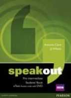 speakout pre intermediate students  book etext access card with dvd ed 2013 9781447941934