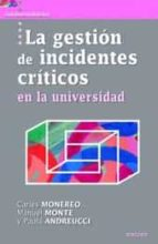 la gestión de incidentes críticos en la universidad carles monereo 9788427721234