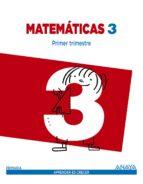 matemáticas 3.   segundo ciclo 9788467847734