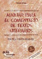 auxiliar para el comentario de textos literarios delmiro antas garcia 9788480638234