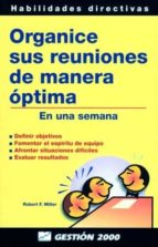 organice sus reuniones de manera optima-robert f. miller-peter fleming-9788480884334
