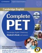 complete pet: student s book with answers with cd rom 9788483237434