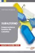 SUBALTERNO CORPORACIONES LOCALES DE CANARIAS. TEST PSICOTECNICOS