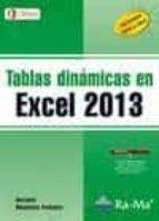 tablas dinamicas en excel 2013-antonio menchen peñuela-9788499642734