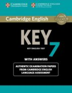 cambridge english key 7 student s book with answers 9781107664944