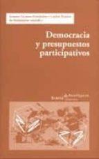 democracia y presupuestos participativos 9788474266344