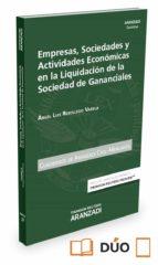 empresas, sociedades y actividades económicas en la liquidación d e la sociedad de gananciales-angel luis rebolledo varela-9788491522744