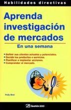 aprenda investigacion de mercados en una semana plly bird 9788496612044