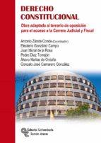 derecho constitucional: obra adaptada al temario de oposicion para el acceso  a la carrera judicial y fiscal-9788499612744