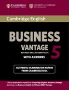 cambridge english business 5 vantage student s book with answers 9781107664654