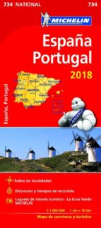 mapa national españa portugal 2018 9782067226654
