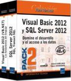 visual basic 2012 y sql server 2012   pack de 2 libros: domine el desarrollo y el acceso a los datos thierry groussard jerome gabillaud 9782746085954