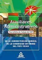 AUXILIARES ADMINISTRATIVOS PARA LA BOLSA DE TRABAJO DEL IVAP (TES T)