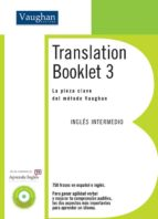 translation booklet 3 (libro + cd) (nivel intermedio bajo) 9788496469754