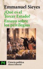¿que es el tercer estado? ; ensayo sobre los privilegios emmanuel sieyes 9788420655864