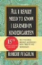 all i really need to know i learned in kindergarten-robert fulghum-9780345466174